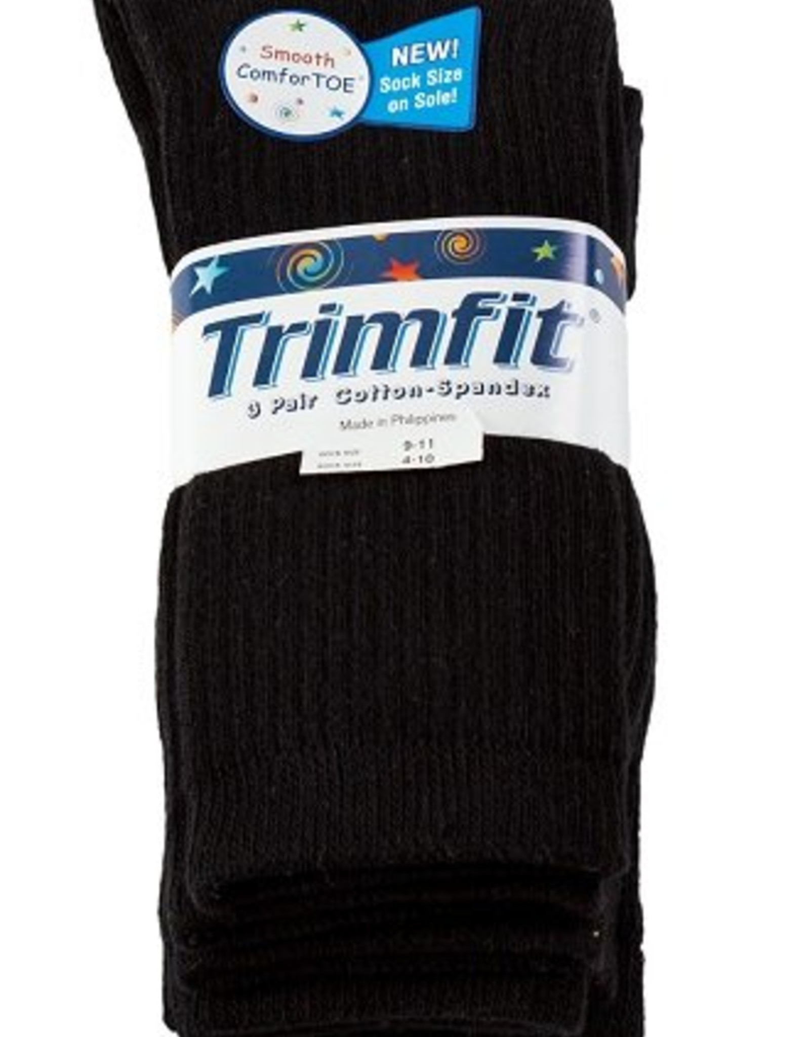 Trimfit Trimfit Boys Cotton Rib Crew Socks 3-Pack