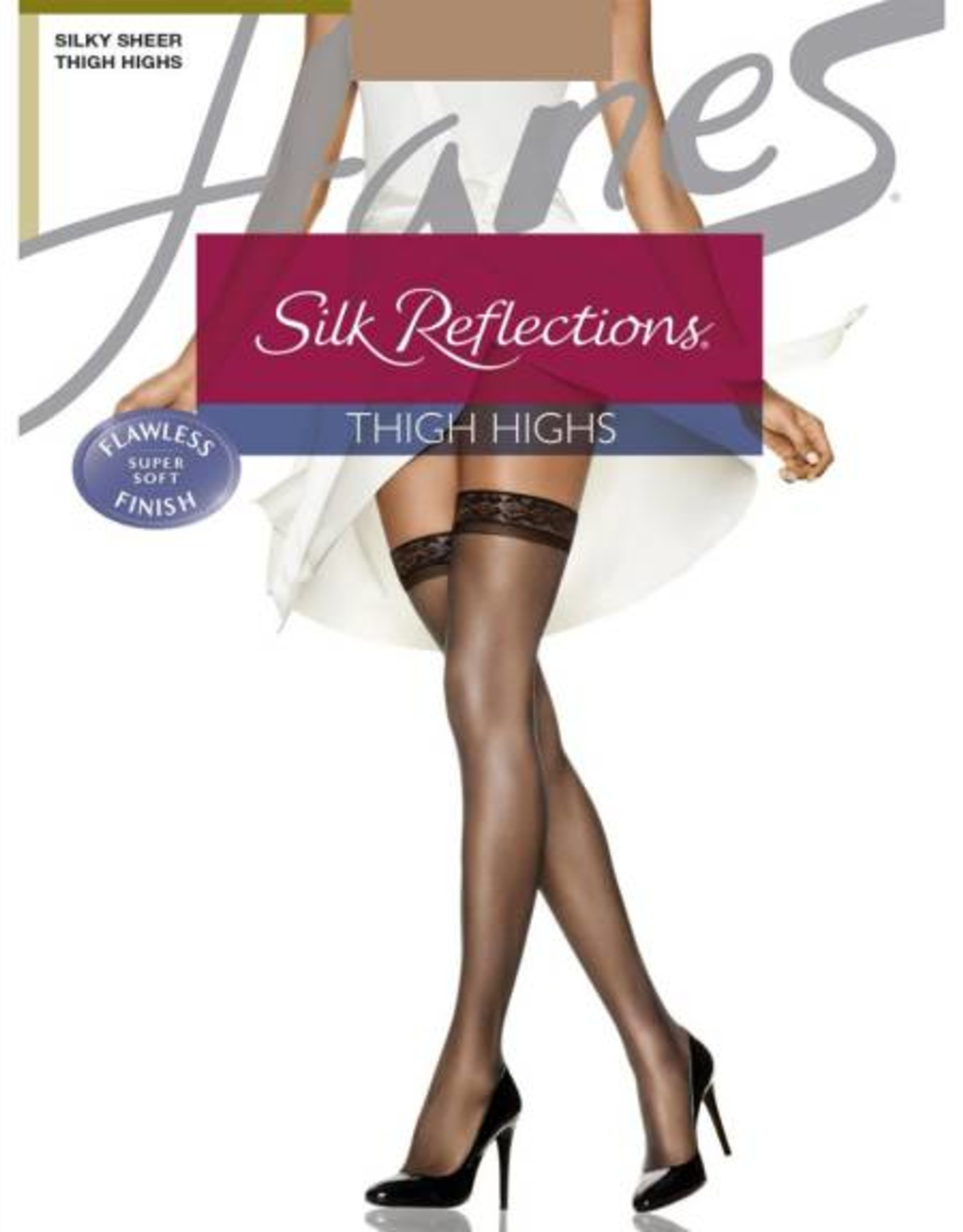 Hanes Hanes Silk Reflections Silky Sheer Thigh High