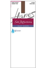 Hanes Hanes Silk Reflections Silky Sheer Toe Knee Hi 2-Pack