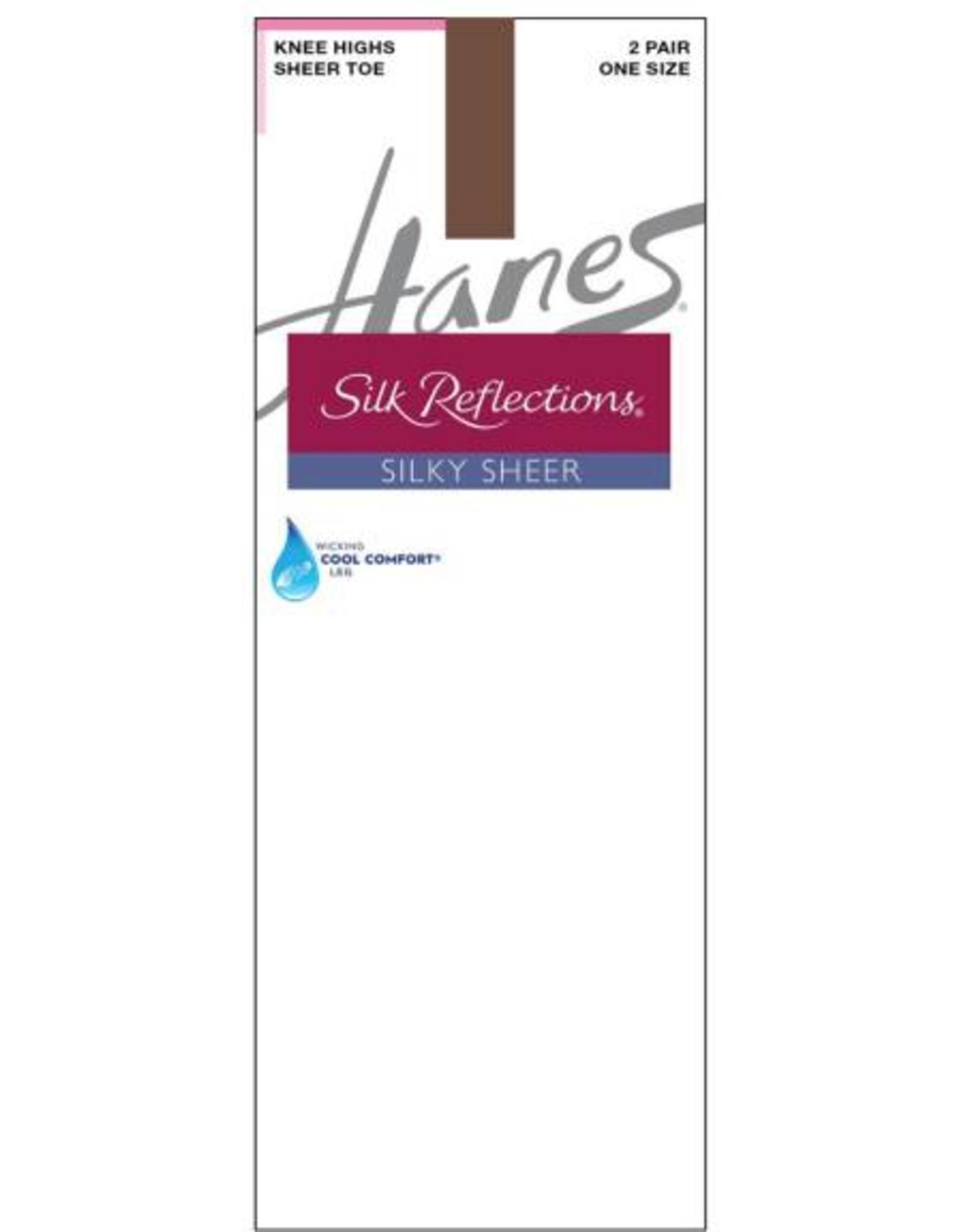 Hanes Hanes Silk Reflections Silky Sheer Toe Knee Hi 2-Pack