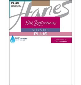 Hanes Hanes Silk Reflections Plus Reinforced Toe Sheer Control Top
