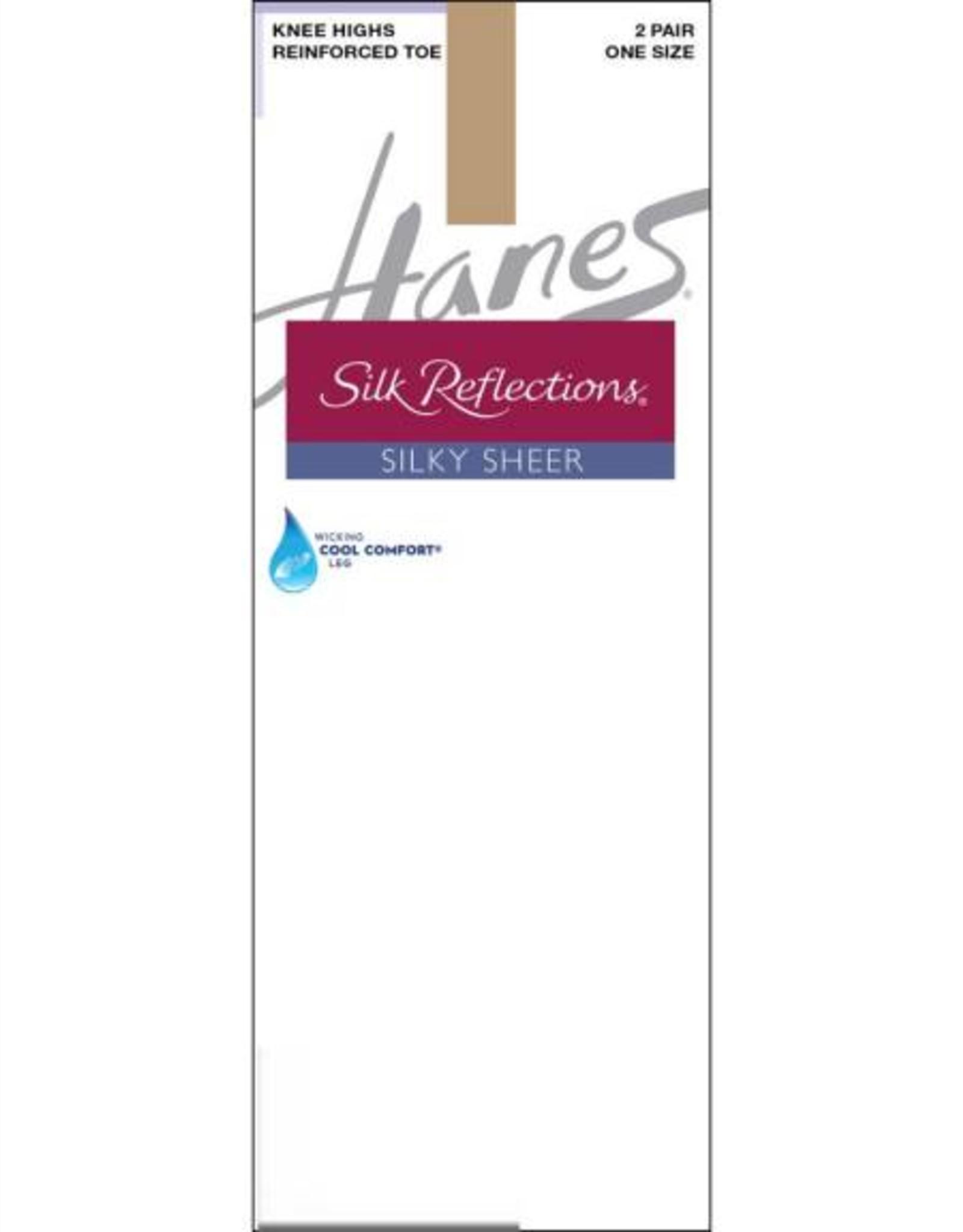 Hanes Hanes Silk Reflections Silky Reinforced Toe Knee Hi 2-Pack