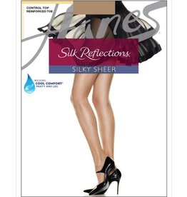 Hanes Hanes Silk Reflections Reinforced Toe Control Top