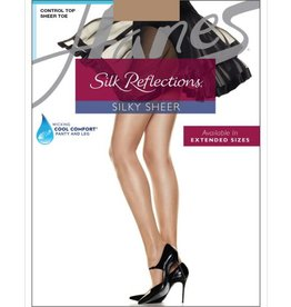 Hanes Hanes Silk Reflections Sheer Toe Control Top