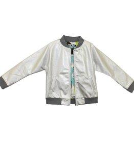 MeMe MeMe Silver Metallic Jacket