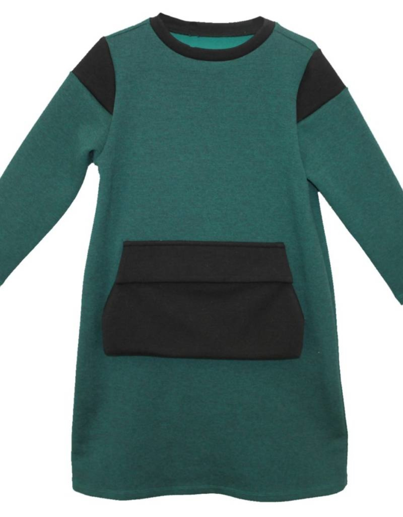 MeMe MeMe Green & Black Pocket Dress