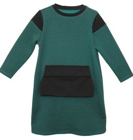MeMe MeMe Green & Black Pocket Dress