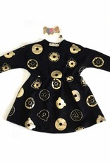 Little Paw Little Paw Gold Donut/Bear Dress