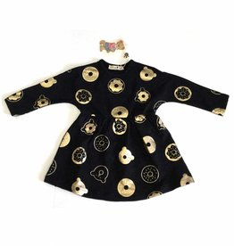 Little Paw Little Paw Gold Donut/Bear Dress