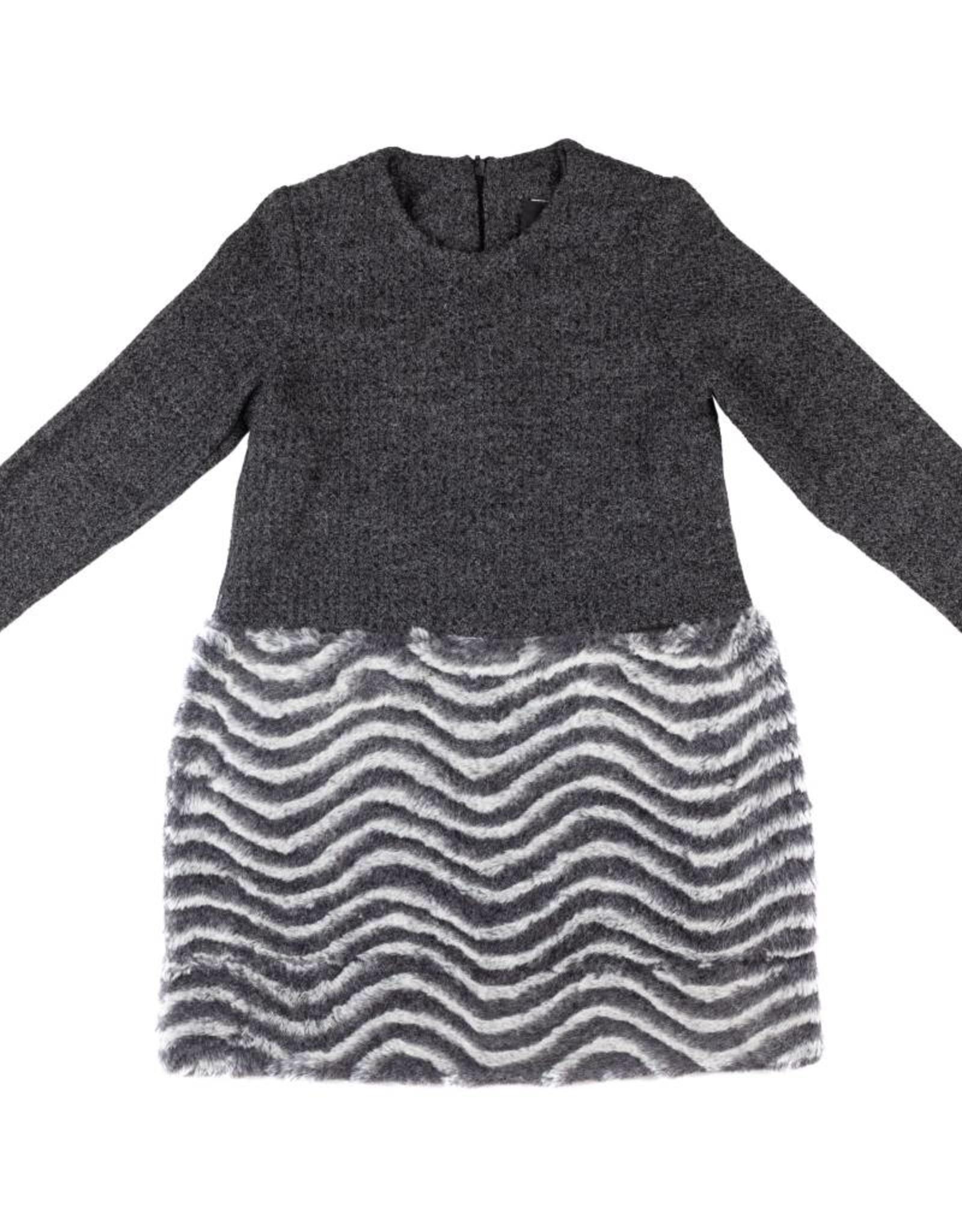 Mi Fur Bottom Wave Dress