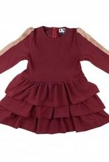 MeMe MeMe Tiered Dress with Fur Sleeve