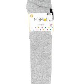 Memoi Memoi Girls Cotton Knee Socks Camp 3-Pack