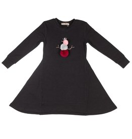 Little Paw Little Paw Pom Pom Snowman Dress