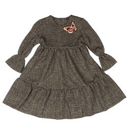 GIRL GIRL Tiered Dress Brushed Flannel