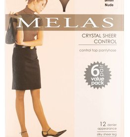 Melas Melas Crystal Sheer Control 6-Pack