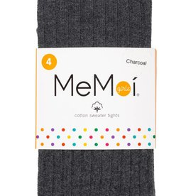 Memoi Memoi Girls Ribbed Cotton Tights