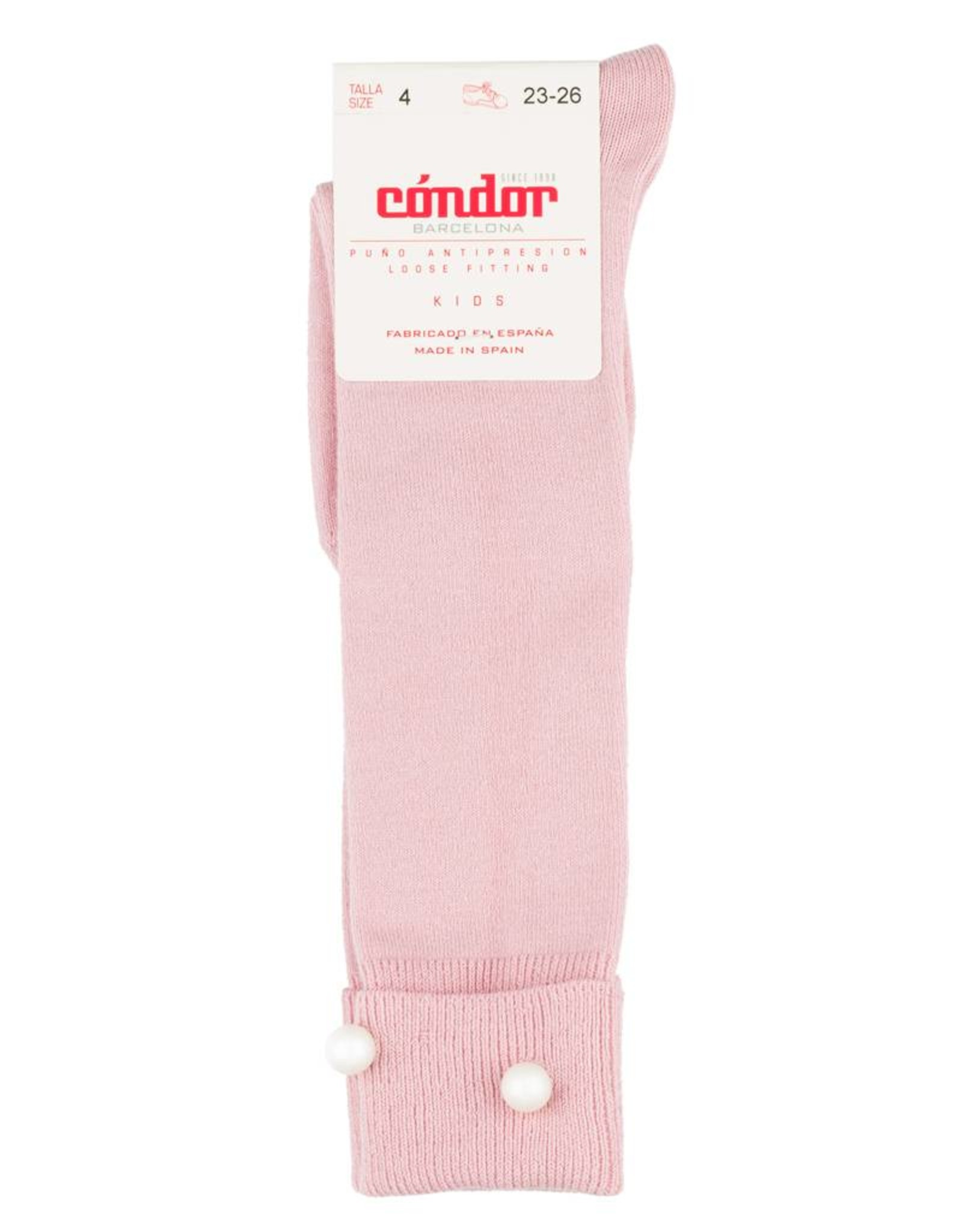 Condor Condor Foldover with Pearls Knee Sock