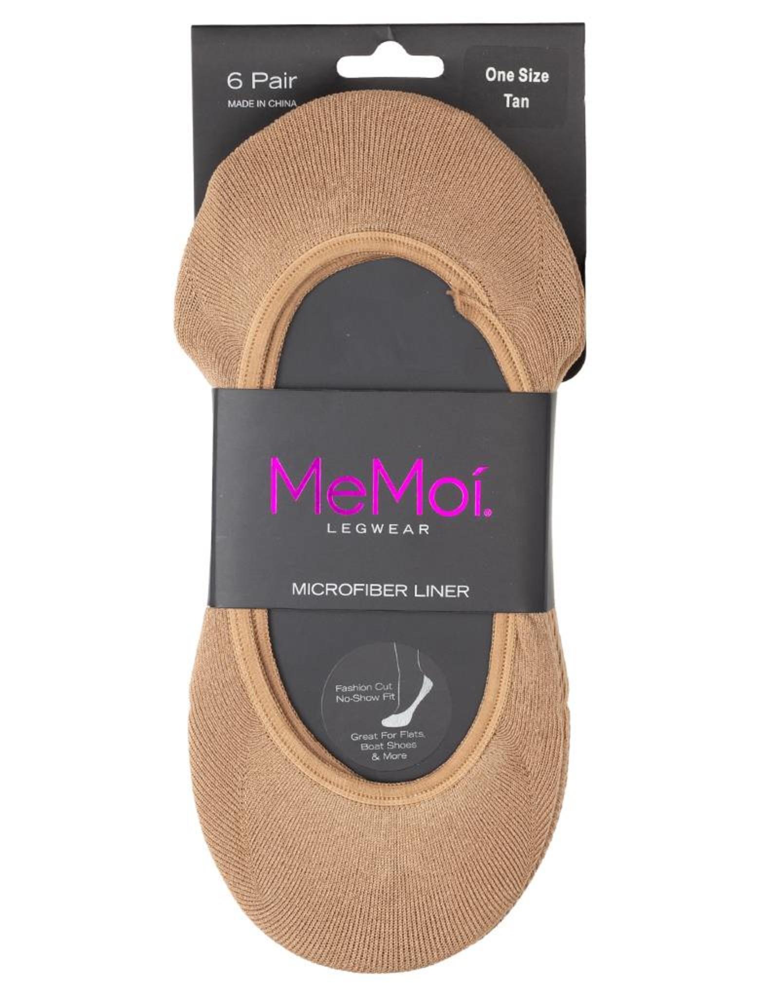 Memoi Memoi Microfiber Liner 6 Pack Sock