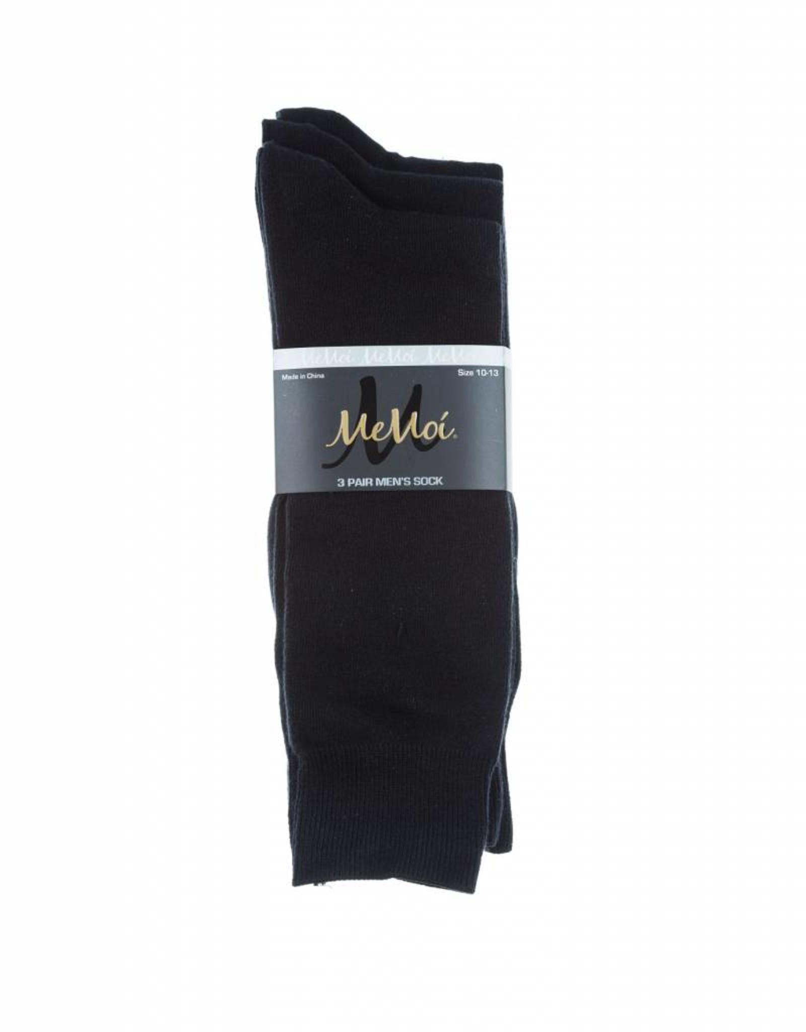 Memoi Memoi Mens 3 Pack Flat Sock
