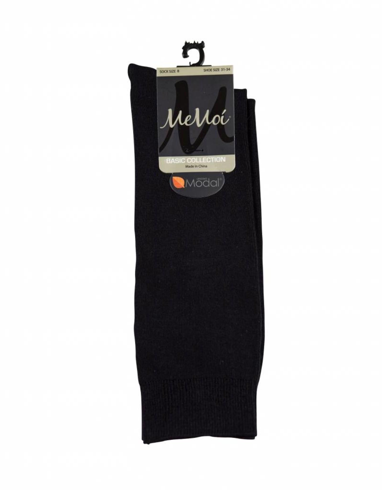 Memoi Memoi Girls Black Modal Knee Sock