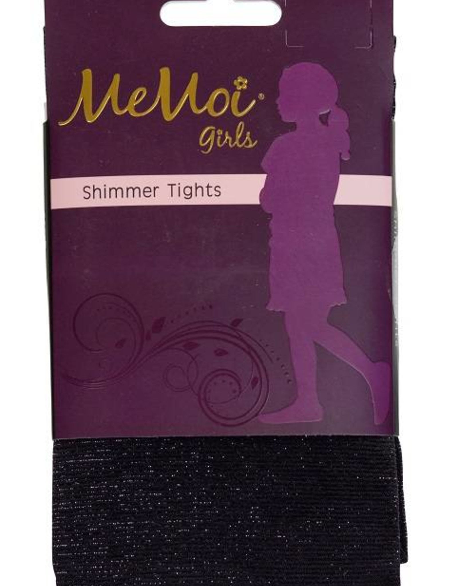 Memoi Memoi Girls Shimmer Microfiber Tights