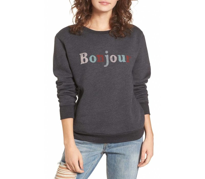 Bonjour Faded Sweater