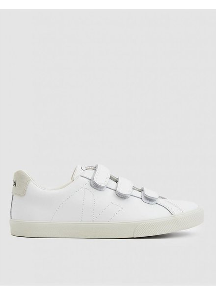 Veja Esplar Leather 3-Lock Sneaker in Extra White