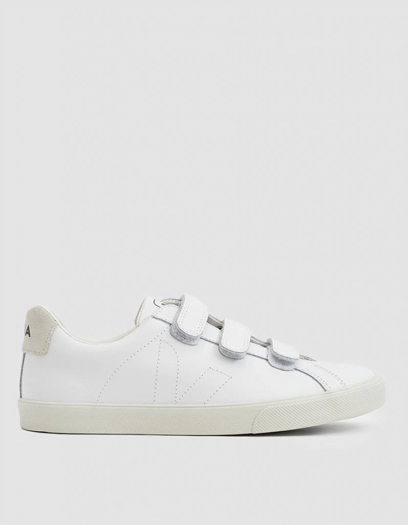 8be6fe6dc93 Esplar Leather 3-Lock Sneaker in Extra White