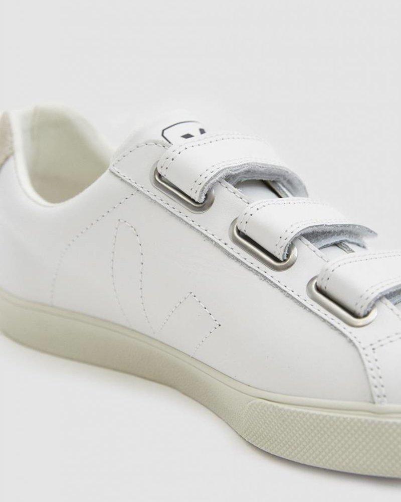 Veja Esplar Leather 3-Lock Sneaker in Extra White