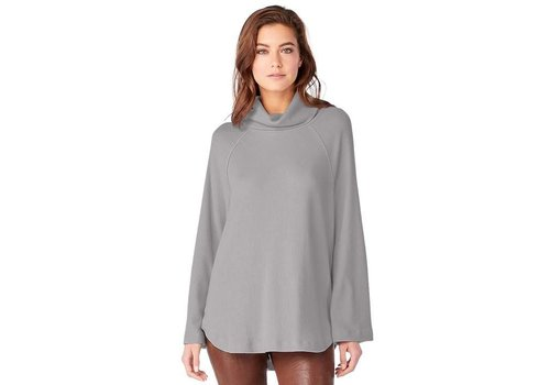 Michael Stars Madison Rib Turtleneck Raglan Top