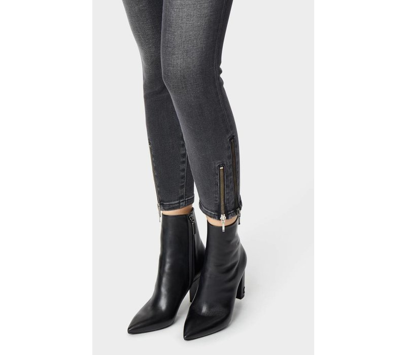 Marina Double Ankle Zip Mid Rise Skinny