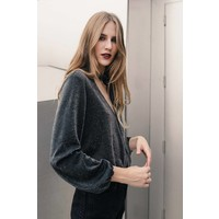 Leona Lurex Long-sleeved Top