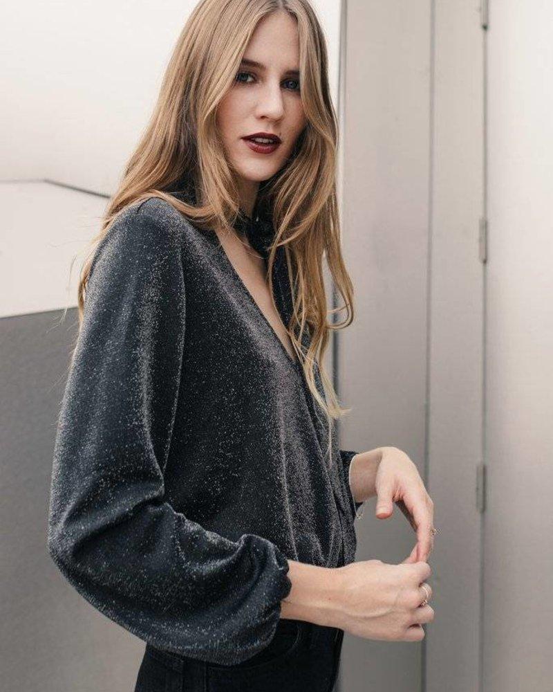 Greylin Leona Lurex Long-sleeved Top