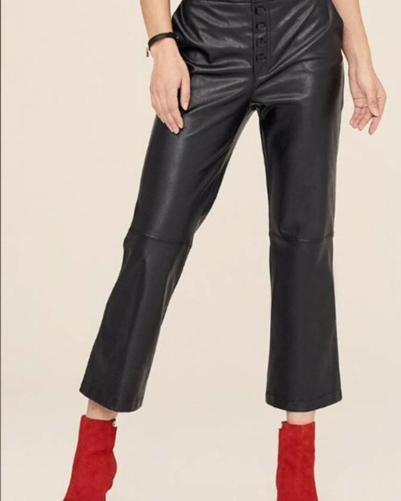 David Lerner High Rise Button Fly Crop Flare Pant