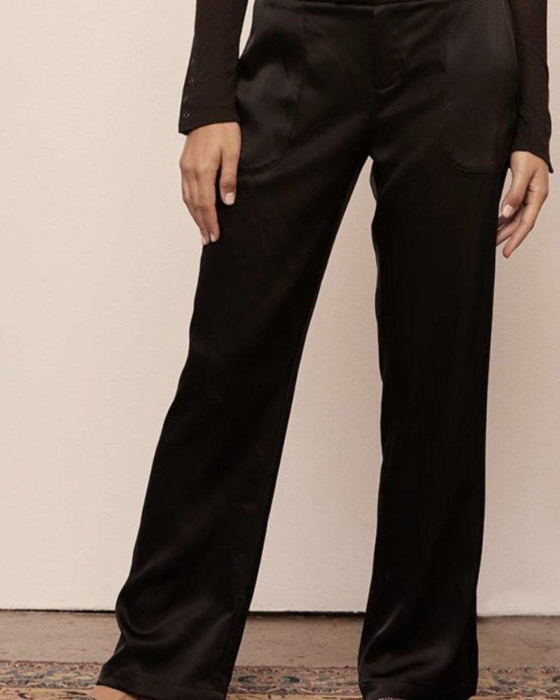 David Lerner Satin Wide Leg Pant