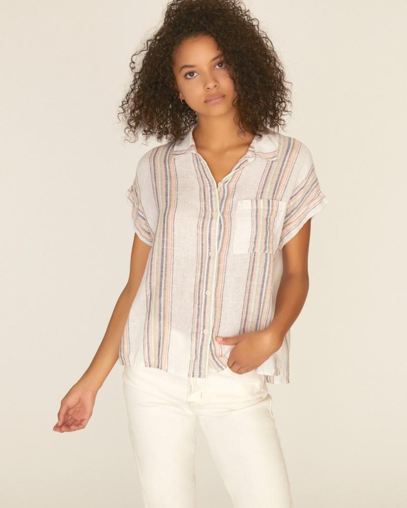 Sanctuary Mod Short Sleeve Boyfriend Shirt