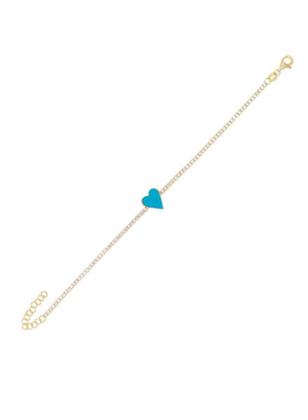 Adina Jewels Mini Enamel Tennis bracelet