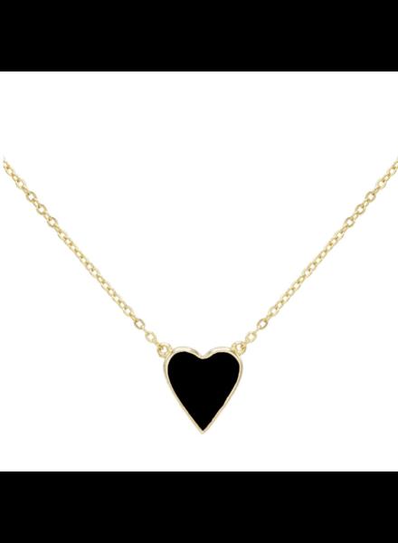 Adina Jewels Enamel Heart necklace