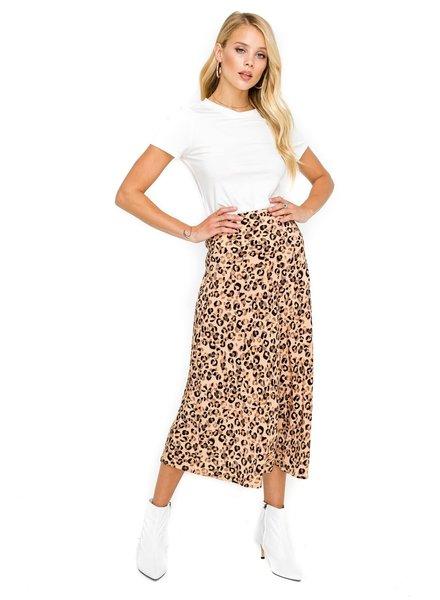 ASTR Midi A-line Skirt