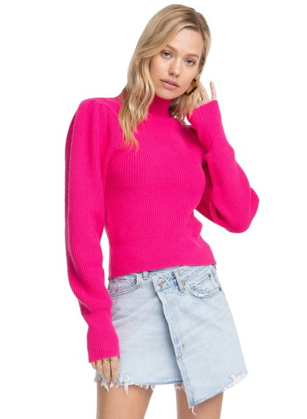 ASTR Mock Neck Puff Slv Sweater