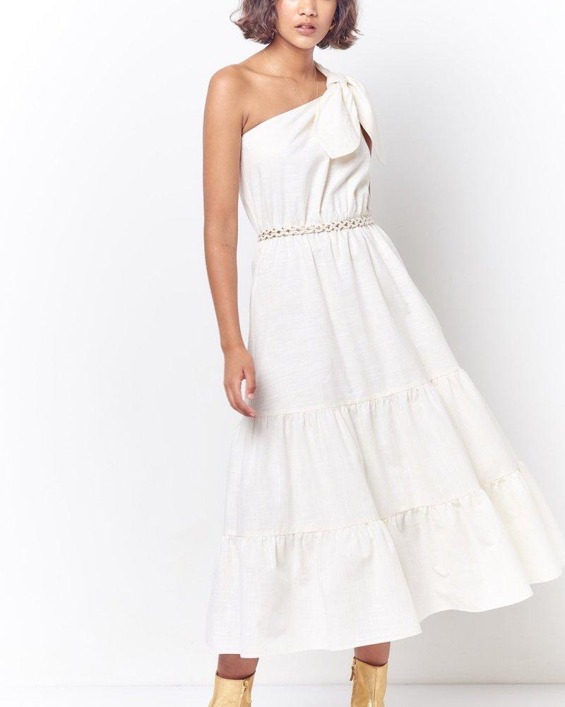 Corey Lynn Calter Aretha One Shoulder Tiered Dress