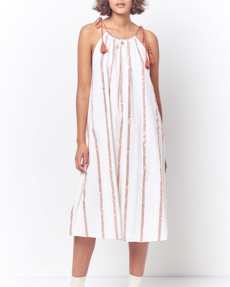 Corey Lynn Calter Cindy Peasant Style Sun Dress - Stripe