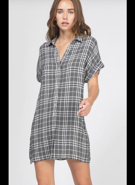 Greylin Greylin Calista Plaid Shirt Dress