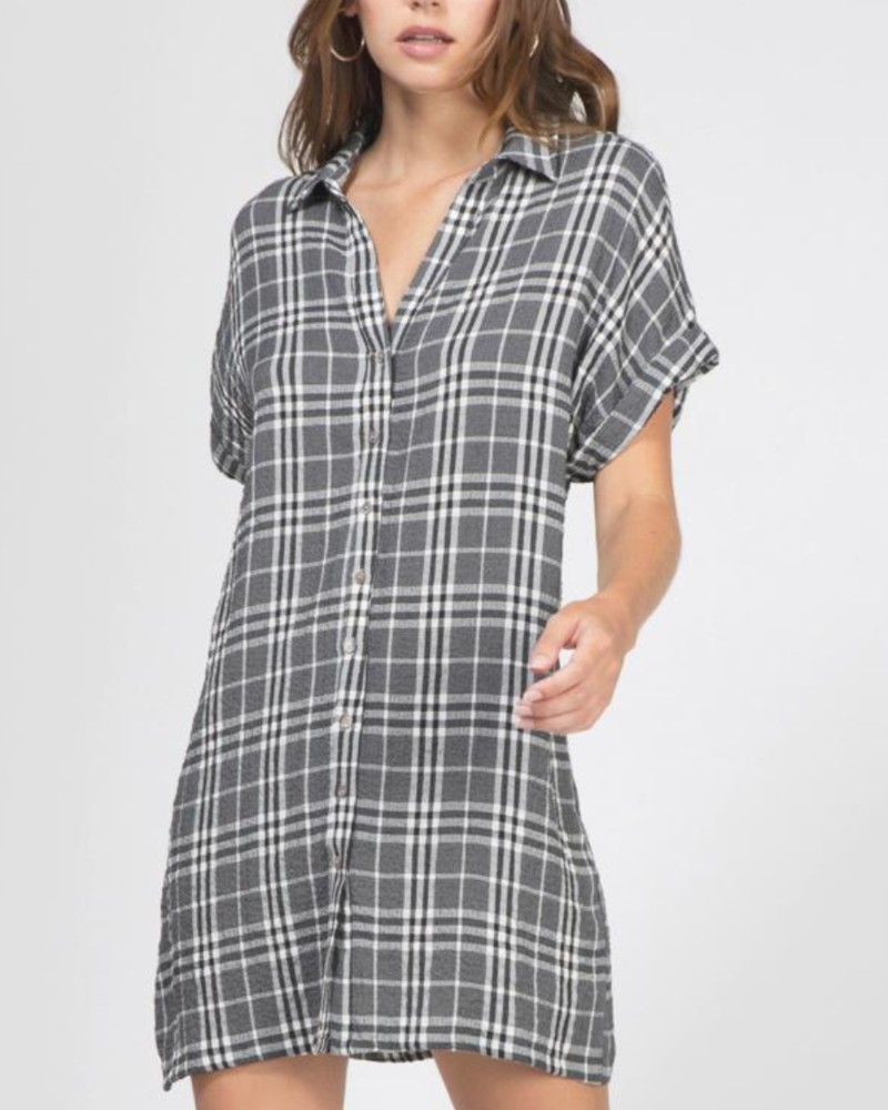 Greylin Greylin Calista Plaid Shirt Dress