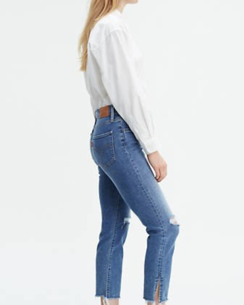 Levis 24 High Rise Straight Crop