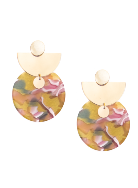 Mod + Jo Chloe Acrylic Satement Earring