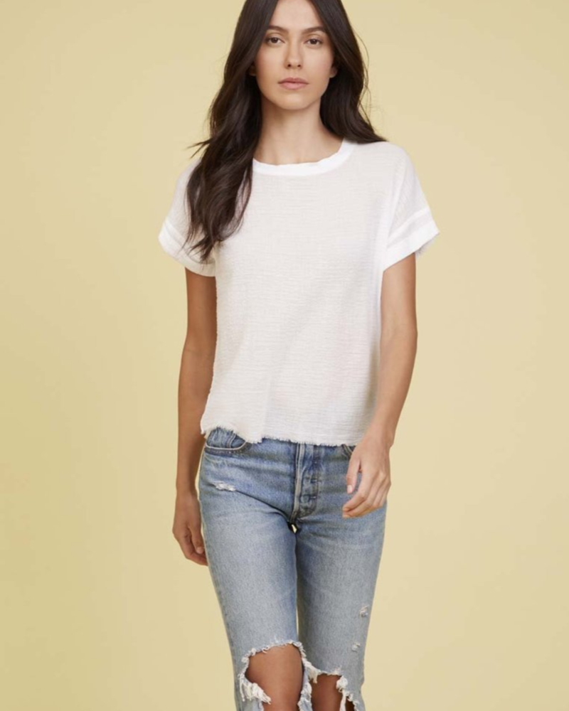 NATION Sonya Rolled Slit Tee