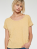 PROJECT SOCIAL T Sibel Twist Sleeve Slub Tee