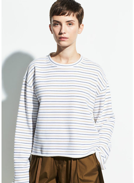 VINCE Tri-Stripe Long Sleeve Pullover