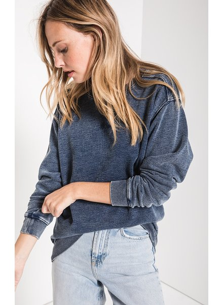 Z Supply The Knit Denim Pullover